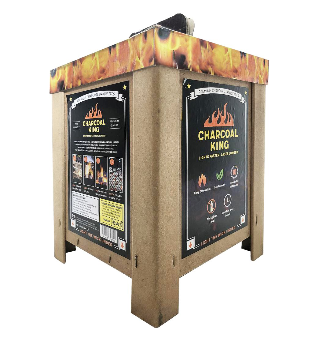 Super Premium Hands-Off Self-Starting Charcoal Briquette Box Set, Total Weight: 4.85 Pounds