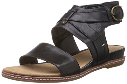 Buy Clarks Women's Orsino Cafe Black Leather Fashion Sandals