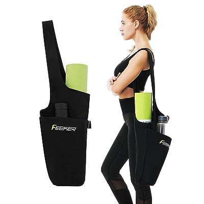 Grande taille de sac de sport de yoga, compatible avec la plupart des Tapis de yoga/Tapis de yoga de stockage de grande capacité Sac | Large Sling Sangle de transport avec cadeau