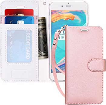FYY Luxury PU Leather Wallet Case Flip Folio Cover for iPhone 7 / iPhone 8