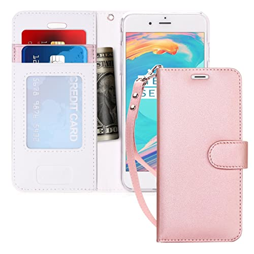 iPhone 8 Case, iPhone 7 Case, fyy [RFID Blocking wallet] Handmade Wallet Case Stand Cover Credit Card Protector for Apple iPhone 8/iPhone 7 Pink