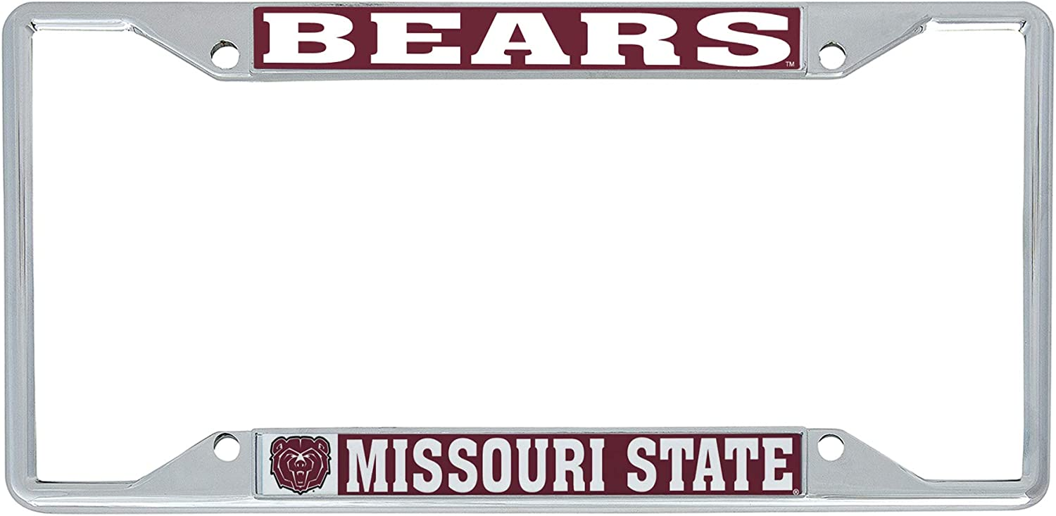 Desert Cactus Missouri State University MSU Bears NCAA Metal License Plate Frame for Front Back of Car Officially Licensed Mascot