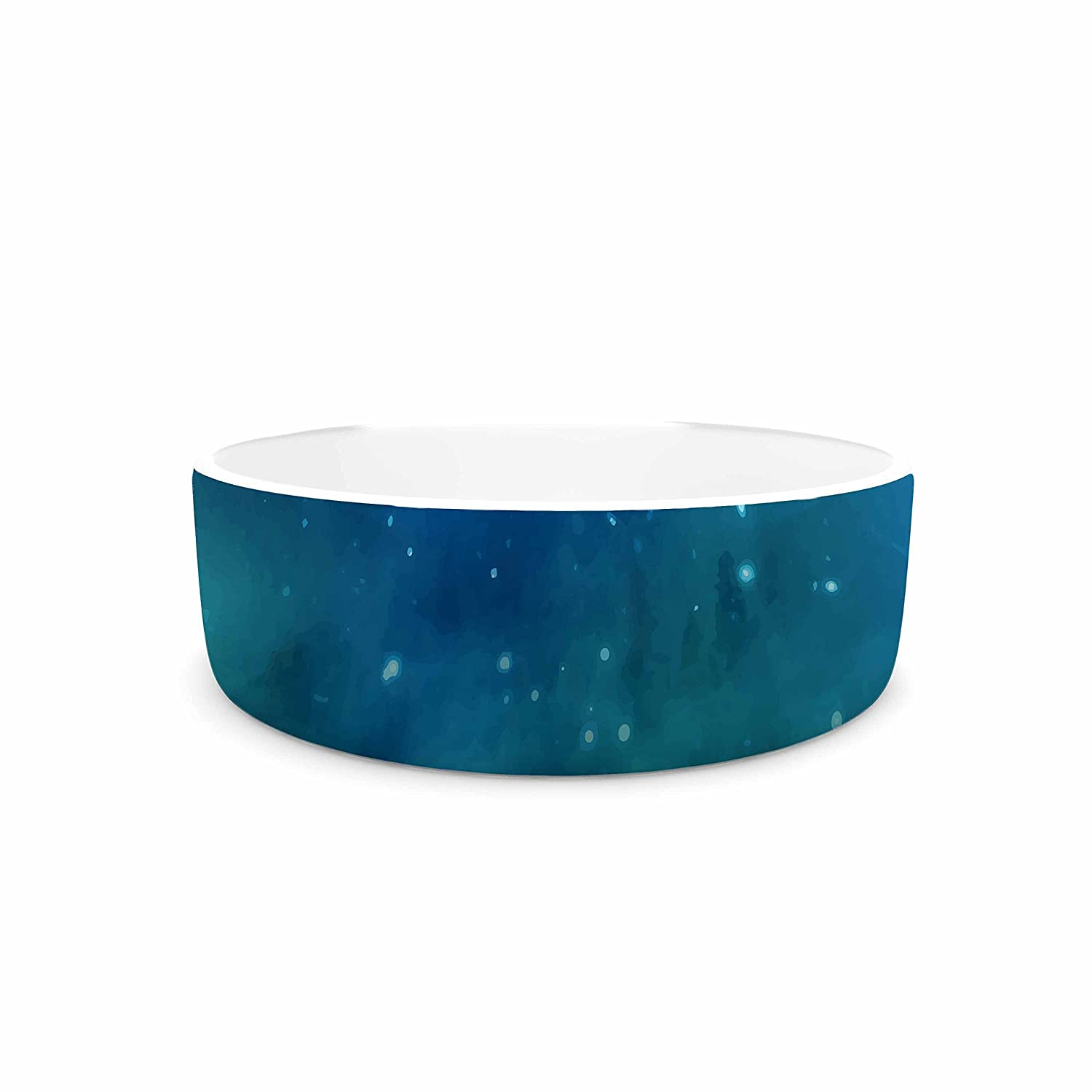 7\ KESS InHouse 888 Design Forest Night  Green Digital Pet Bowl, 7