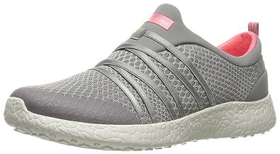 Skechers Sport Women's Burst Very Daring Fashion Sneaker,Grey/Coral,6.5 ...