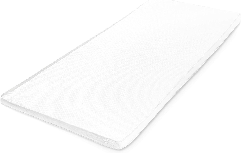 Lumaland Topper colchón ortopédico viscoelástico de Espuma Confort 90 x 200 cm + 5 cm