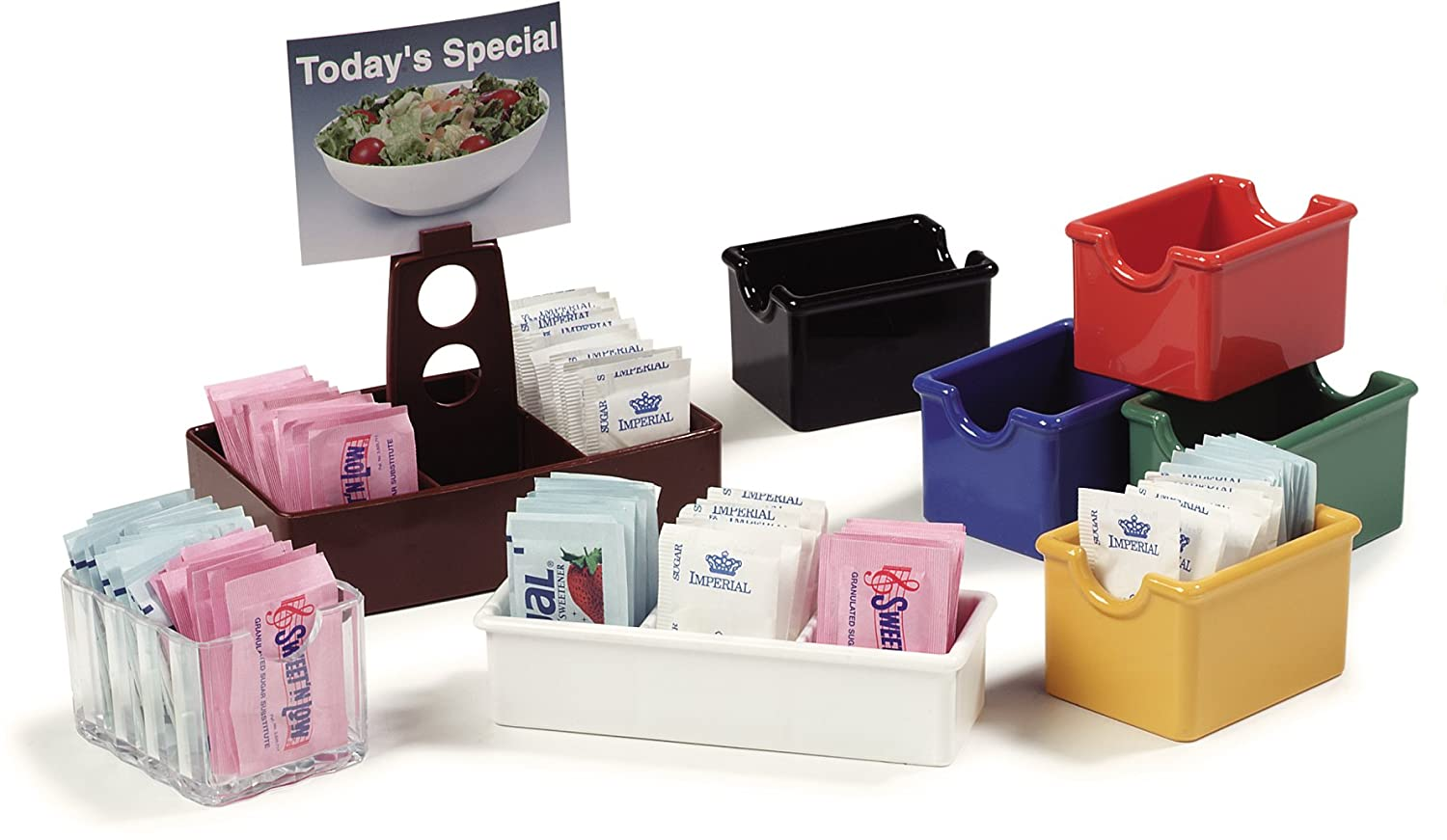 3.37 Length x 2.56 Width x 2.12 Height 20 Packets Capacity Case of 24 Clear Carlisle 454907 Crystalite Styrene Sugar Caddy