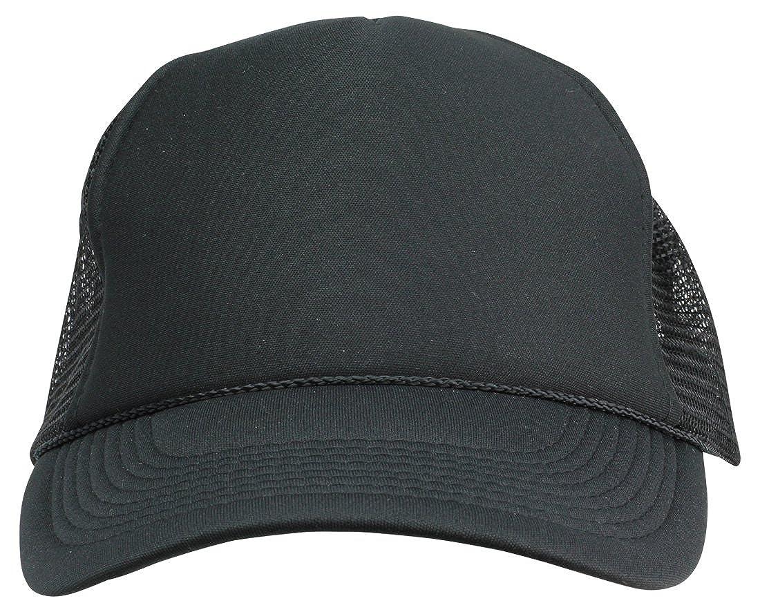 f1cb6b42 DALIX Plain Trucker Hat in Black at Amazon Men's Clothing store: Novelty  Baseball Caps