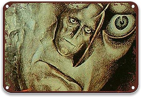 NNHG Das Testament des Dr. Mabuse (1933) Letreros de lata vintage de películas sentido del arte para el hombre, decoración del hogar, jardín, campo, decoración del hogar, barra de 20 x 30 cm