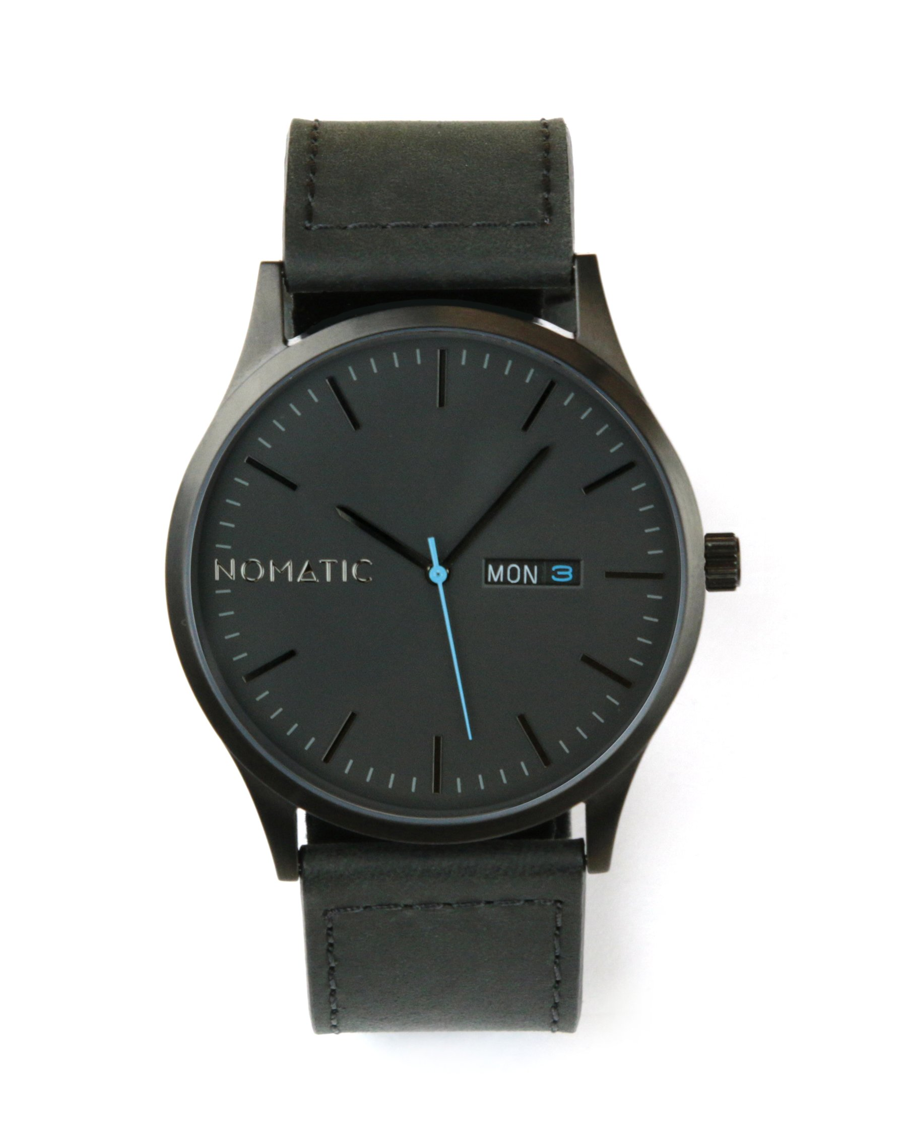 The Nomatic Leather Band Water Resistant Watch - Black by NOMATIC (Image #1)