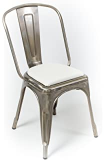 Rounded Back Chair/stool Cushion For Tolix And Other Metal Chairs (White)