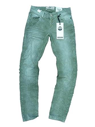Coccara - Jeans - Femme vert vert - vert -  Amazon.fr  Vêtements et ... 83e52ac20e32