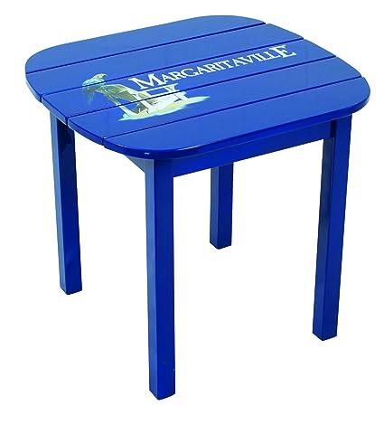 Margaritaville Outdoor Side Table, Castaway Bay Stamp Logo