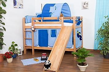 Etagenbett Moritz Buche : Kinderbett etagenbett moritz buche vollholz natur massiv mit