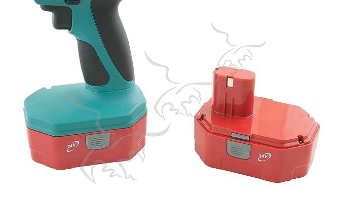 PISTOLA DE IMPACTO CON 2 BATERÍAS. 24 V: Amazon.es: Bricolaje y herramientas
