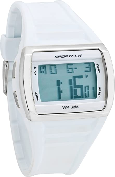 Sportech SP10301 - Reloj de Pulsera Unisex, plástico, Color Blanco