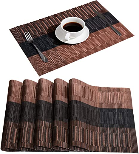 Dark Brown Laminate Coasters Set of 4