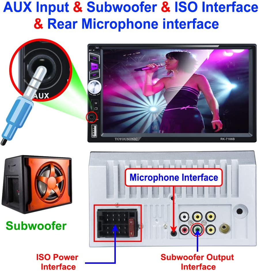 REAKOSOUND MP5 Player 7 Inch 2 Din Capacitive Touch Screen Car ...