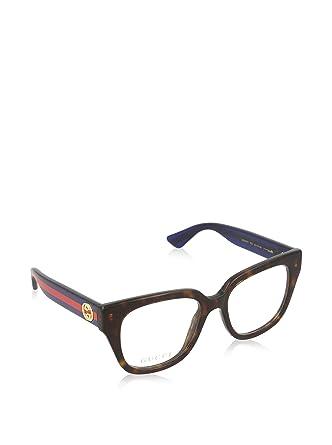653784b2820d Amazon.com: Gucci frame (GG-0037-O 003) Optyl Havana - Glitter Blue ...