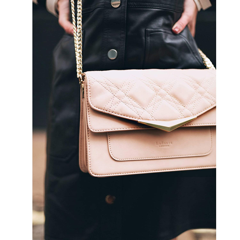 Nude Purse vegan purses quilted bag small crossbody purse side bag evening clutch crossover bag pink purse LaBante Vegan Handbags Crossbody bags for women Marlene