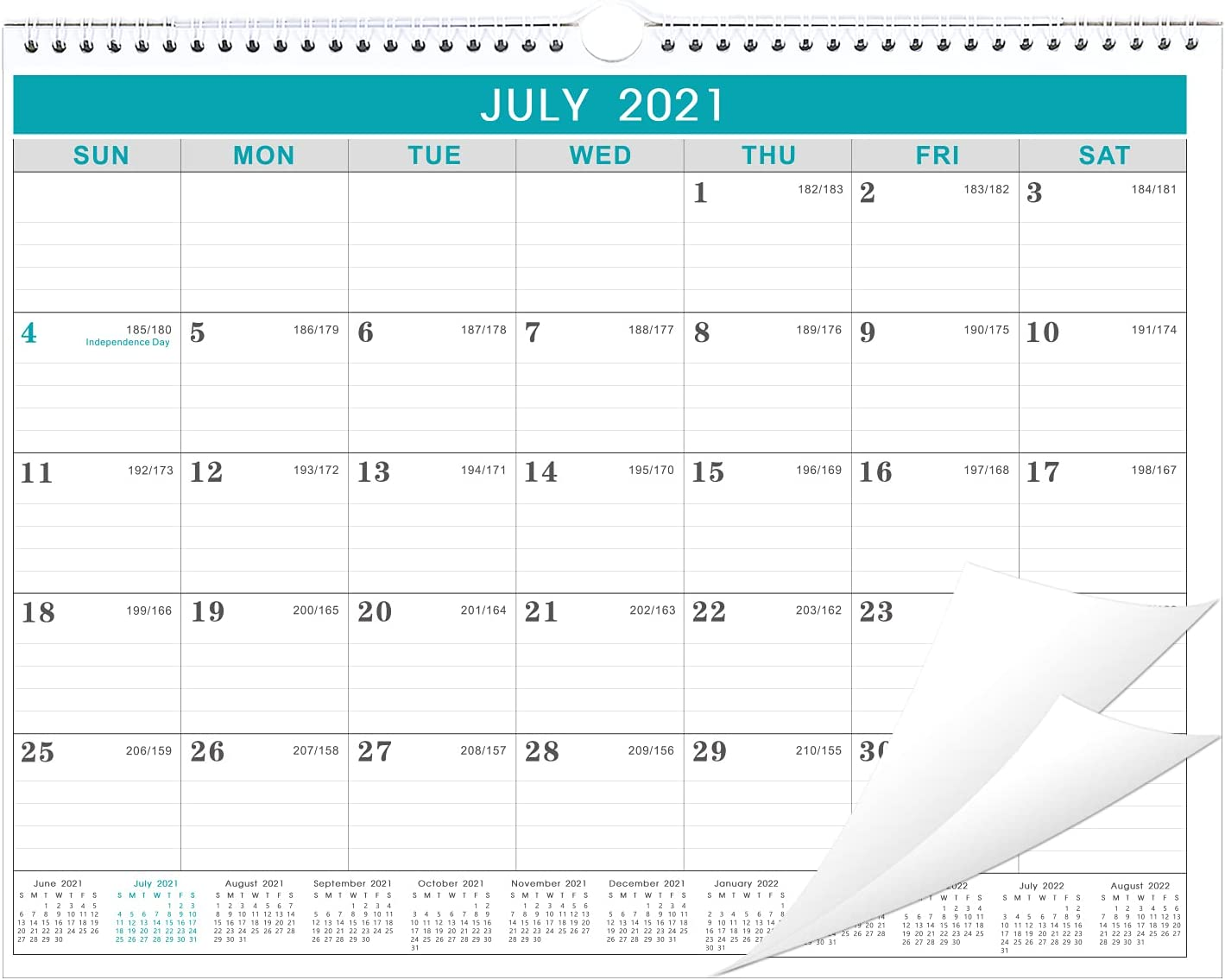 Julian Calendar 2022.Amazon Com 2021 2022 Calendar 2021 2022 Wall Calendar Start In July 2021 Jul 2021 To Dec 2022 18 Months Calendar With Julian Date Thick Paper For Organizing Planning 14 75 X 11 5 Inches Office Products