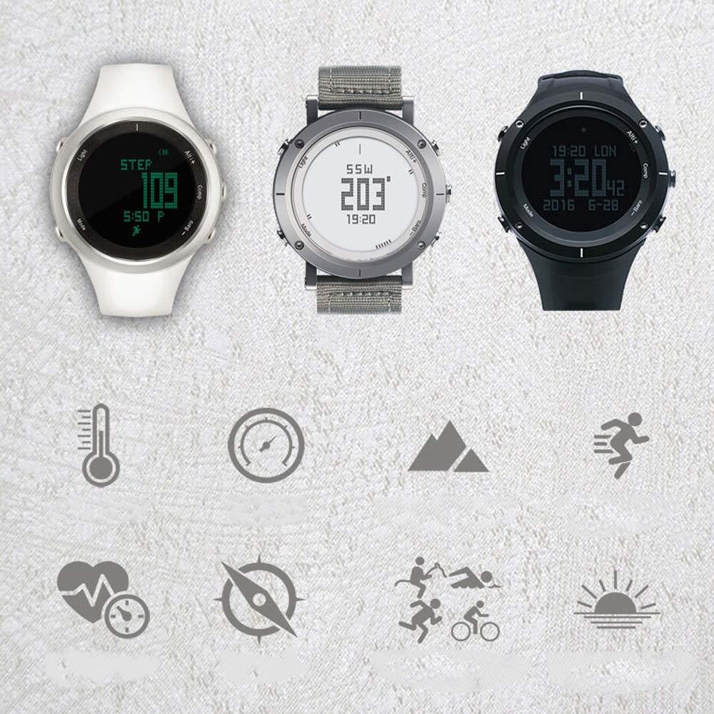 Jian E- utomhus lufttryckskompass, hjärtfrekvens, steg, vattentät, höjd, temperatur, bergsbestigningsklocka, smart sportklocka @, b a