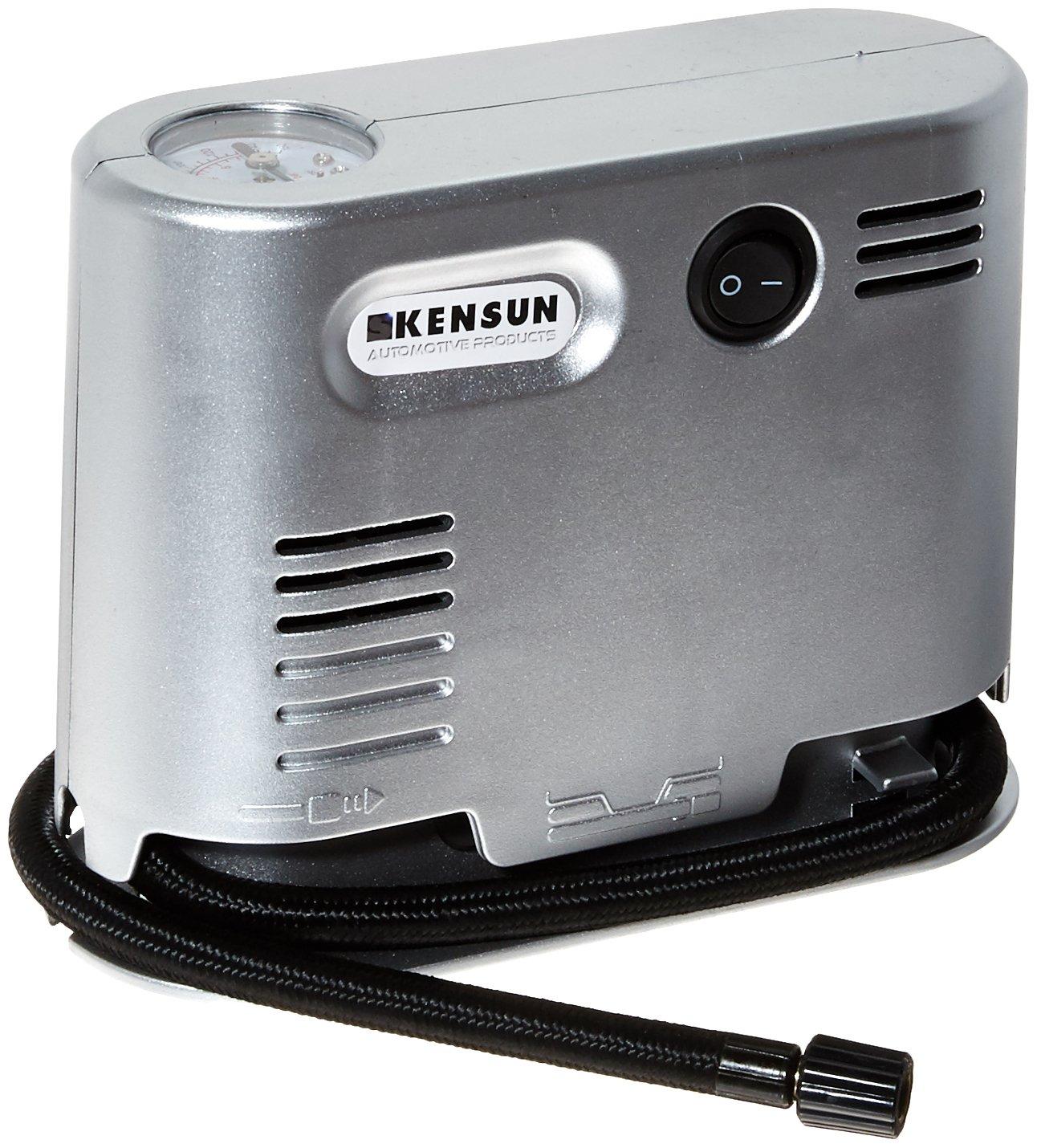 Kensun-PortAir-G High Pressure Air Compressor, Silver Kensun Portable Travel High Pressure Air Compressor//Inflator