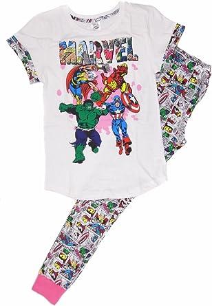 Pijama Comic Strip de Marvel Superheroes para Mujer: pequeño (8-10)
