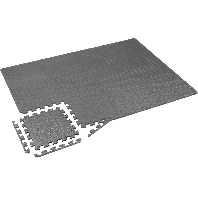Yes4All Interlocking Exercise Foam Mats with Border – Interlocking Floor Mats for Gym Equipment – Eva Interlocking Floor Tiles (Gray) by Yes4All (Image #5)