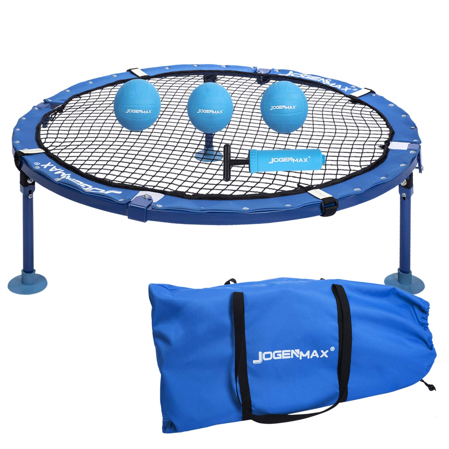 Jogenmax Spike Battle Ball Game Nets,Fully Foldable, Includes 3 Balls,Drawstring Bag,Played Outdoors, Indoors, Lawn, Yard, Beach, Tailgate, Park, for Boys, Girls, Teens, Adults, Family