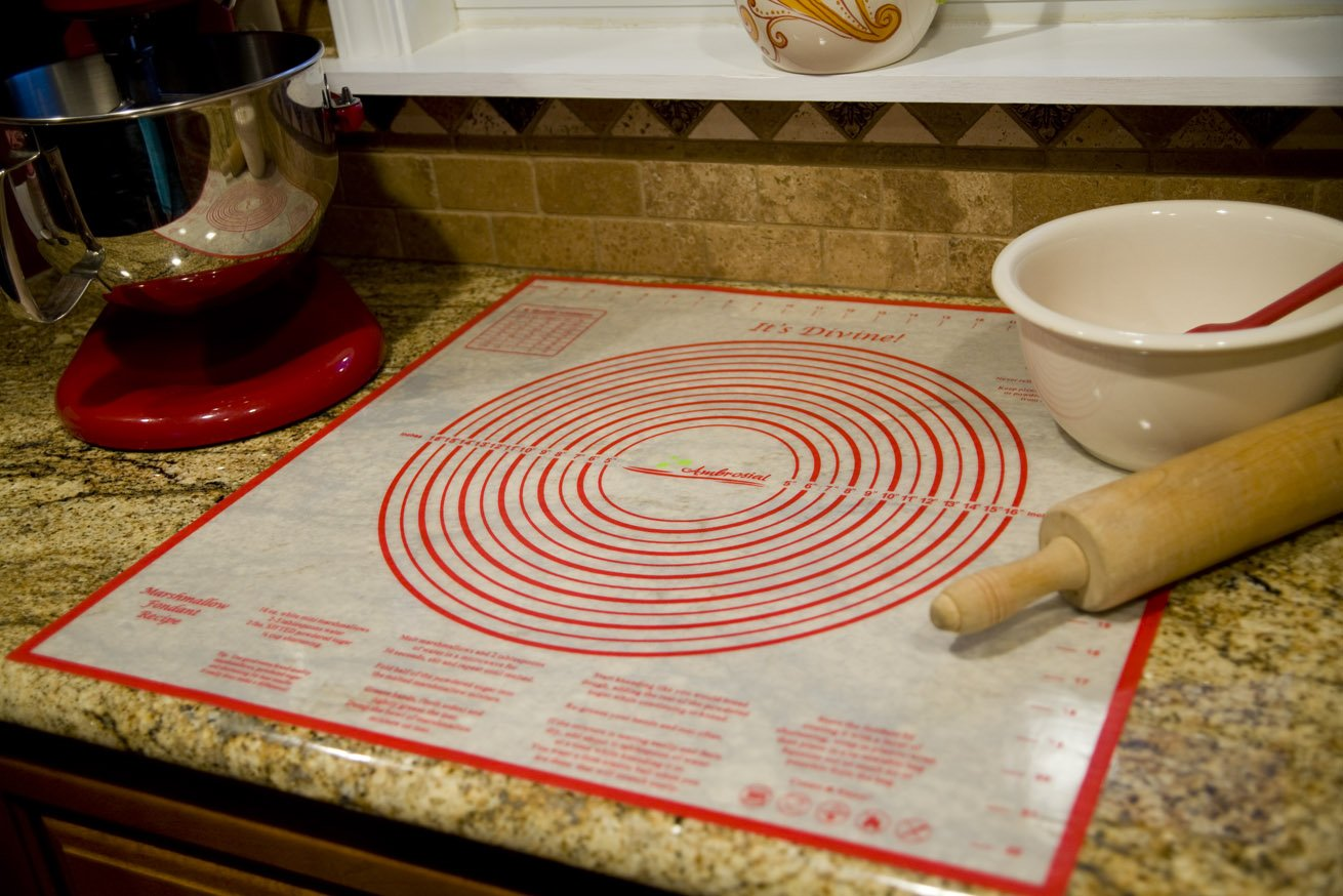 Ambrosial Pastry and Dough Mat, Extra-Large 24 Inch by 24 Inch, A Military Spouse Owned Company by Ambrosial (Image #3)