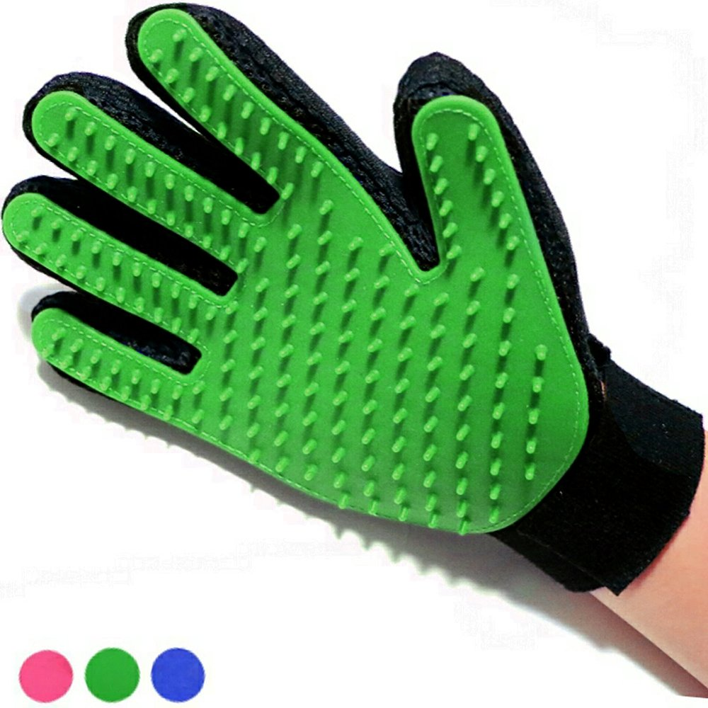 Dog Brush Glove - Pet Grooming Deshedding Glove - Dog Deshedding Glove - Dog Washing Glove - Dog Grooming Glove - Pet Massage Tool for Pets Right Hand by Vizpet
