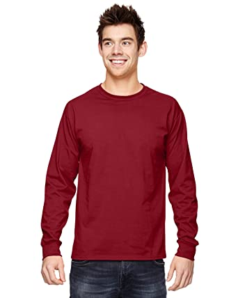 Fruit Of The Loom 5.6 oz Heavy Cotton Long Sleeve T-Shirt 4930 ...