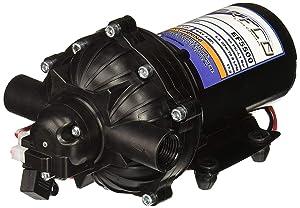 "Everflo EF5500 12V Diaphragm Pump Boxed with 1/2"" NPT Ports, 5.5 GPM"