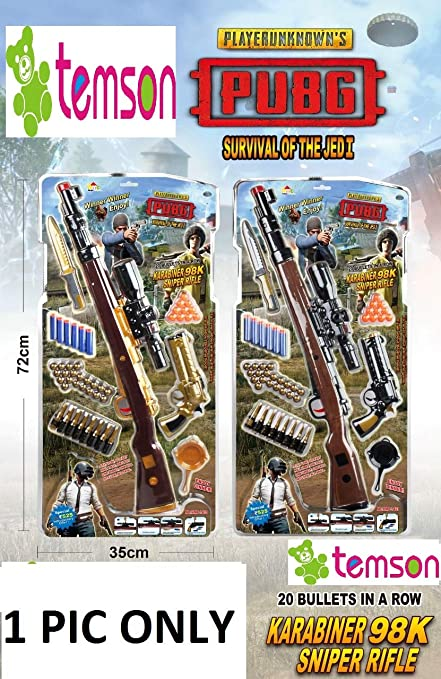 TEMSON PUBG Toy Play Set for 5+ Kids, Police Weapons & Tactics Set for Kids