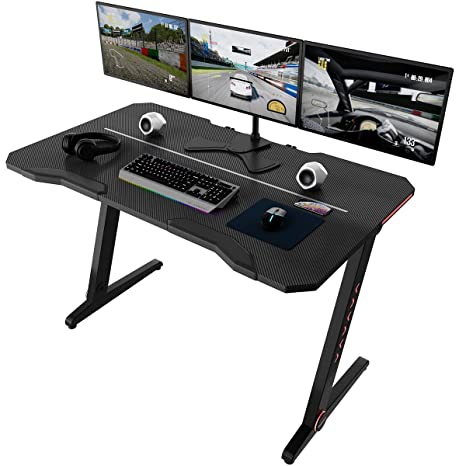 Slypnos - Escritorio Gaming, Mesa para Gaming, Mesa Gamer, Mesa Ordenador, Metal Frame + HDF, 120 cm (Ancho) x 70 cm (Amplia) x 78 cm (Alto), con ...