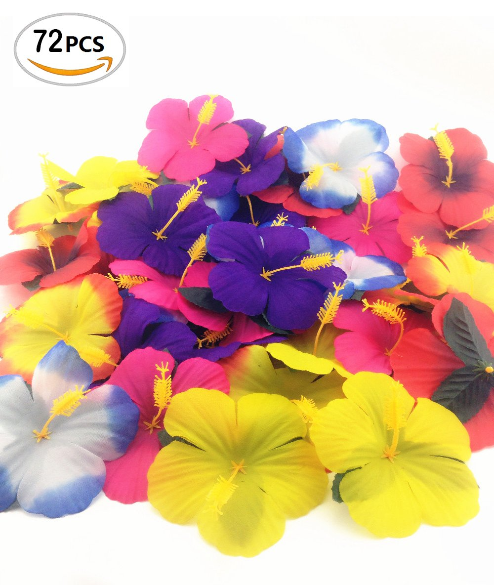 72 pack sc0nni hibiscus flowers for tabletop decoration party favor 72 pack sc0nni hibiscus flowers for tabletop decoration party favor party decoration confetti party favors on izmirmasajfo