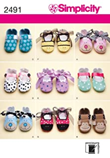 fac4f4c7f6f09 Simplicity Sewing Pattern 2278 Misses' and Baby's Shoes Size A ...