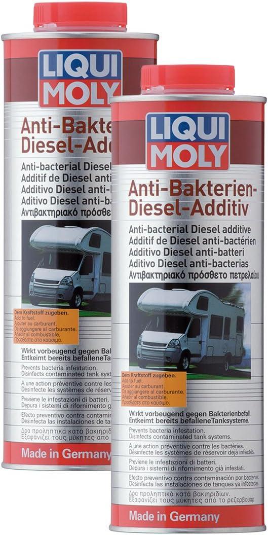 2 aditivos antibacterianas Liqui Moly 5150, biocida altamente eficaz, 1 litro