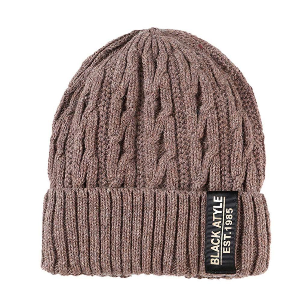 OMMR-Clearance Unisex Warm Crochet Winter Knit Villus Beanie Skull Slouchy Caps Hat Thicker