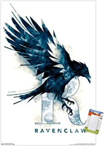 Trends International Wizarding World: Harry Potter-Ravenclaw Illustrated House Logo Wall Poster, 22.375
