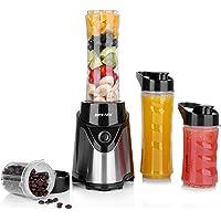 BESTEK Smoothie Maker Mini Standmixer mit 4-Fach Edelstahlmesser, 300 Watt, Edelstahl