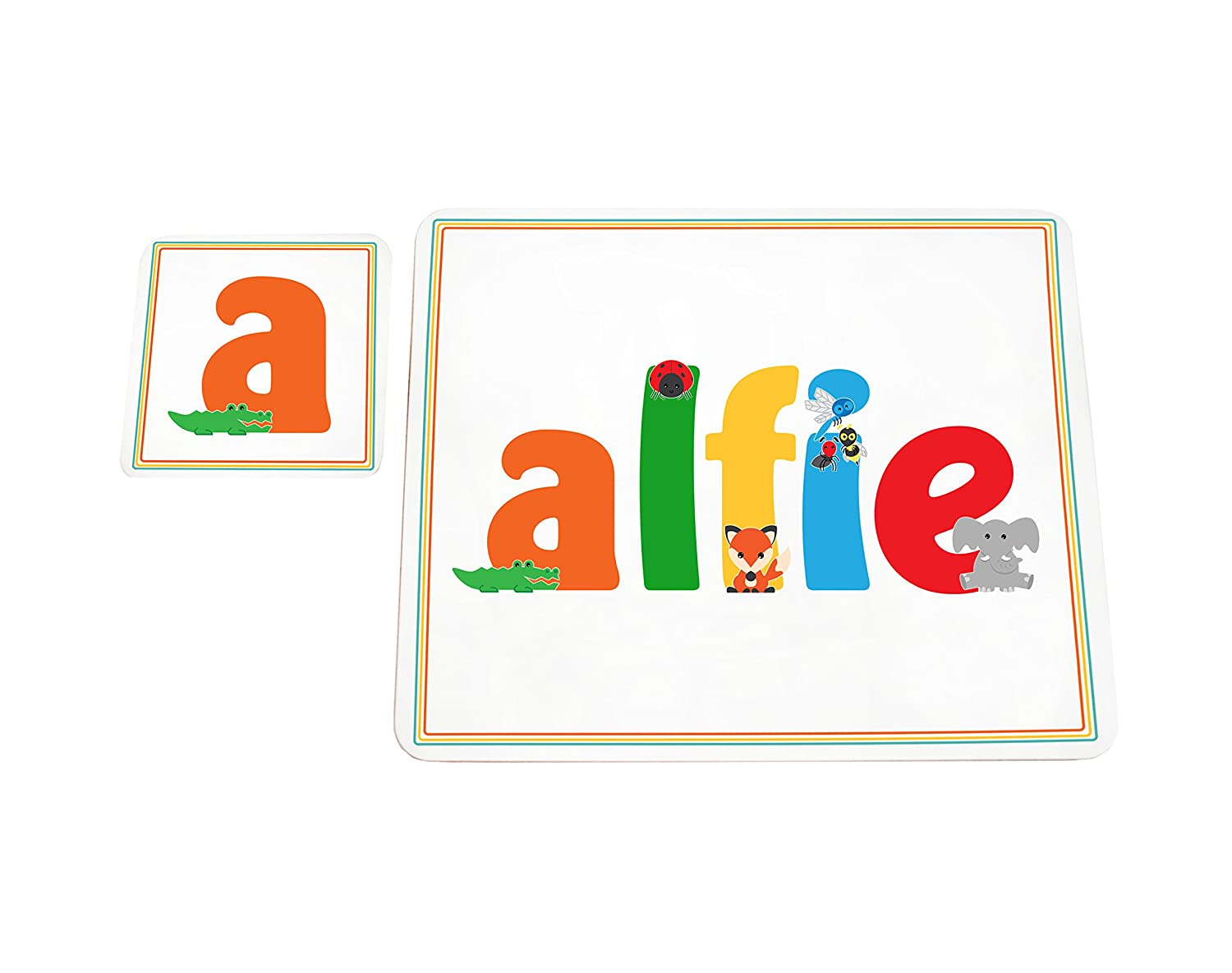 Feel Good Art High Gloss Placemat/Coaster for Babies and Toddlers (Alfie) ALFIE-COASTERANDPLACEMAT-15