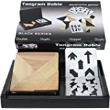 Aquamarine Games - Tangram doble en estuche de madera, juego de habilidad (Compudid CP103735)