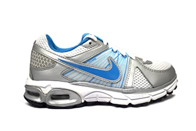 Nike Air Max Moto+ 9 Women's Running Shoes (5.5, White/Blue Glow-