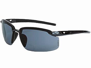 f5f3a1df59 Crossfire ES5 Bifocal Safety Glasses Crystal Black Frm Polarized Smoke Lens  +1.50 - - Amazon.com