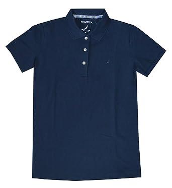 613c1cf0e97 Nautica Women Short Sleeve Logo Classic Polo T-Shirt at Amazon ...