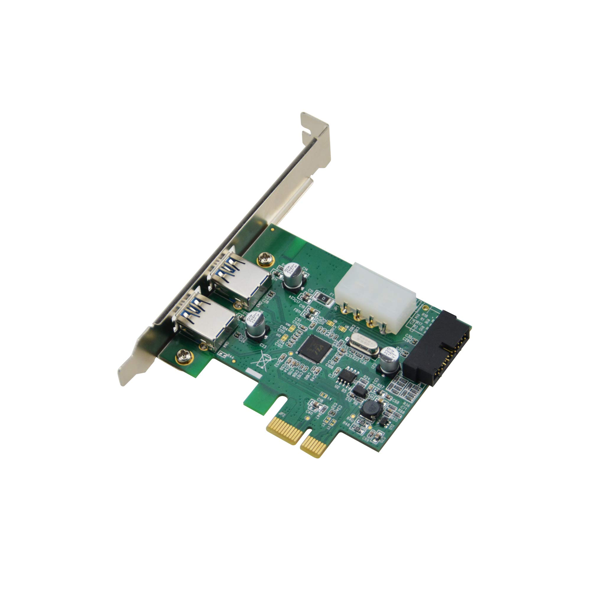 A Adwits Pcie 1x To Usb 3.1 Gen 1 Type A Port X2 And 20-pin