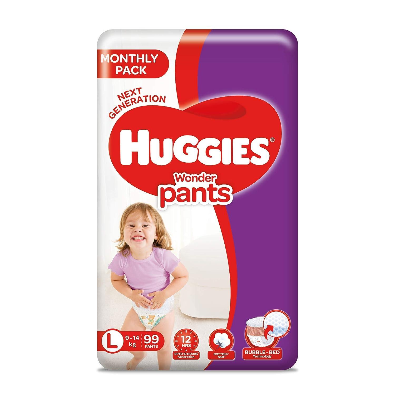Huggies Wonder Pants, Mega Jumbo Pack Diapers, Large Size