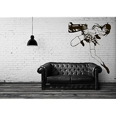 Vinyl Wall Decal Sticker Anime Comics Girl Weapons Japanese Kids Bedroom A70: Home & Kitchen