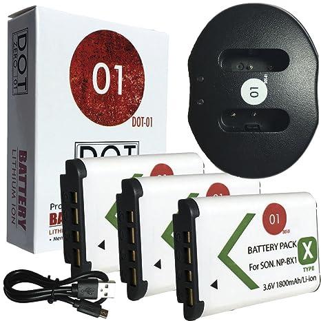 DOT-01 3 x Marca 1800 mAh de Repuesto Sony M8 Pilas y ...